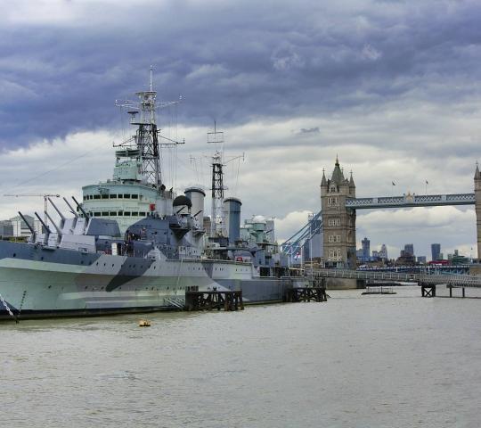 HMS Belfast Savaş Gemisi