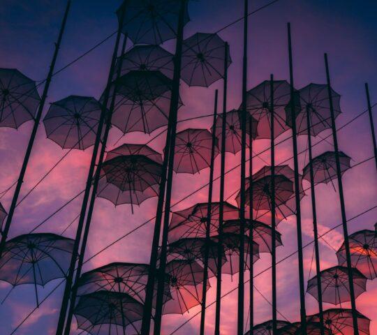 Zongolopoulos'un Şemsiyeleri Heykeli